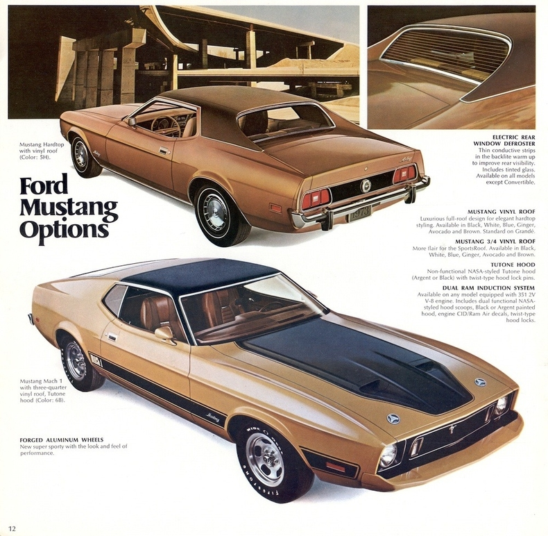 Muscle Car Decals >> 1973 Mustang Specs, Colors, Facts, History, and Performance | Classic Car Database