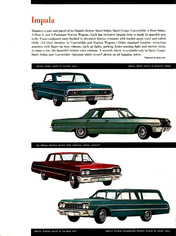 1964 Chevrolet Impala on 1966 chevy models