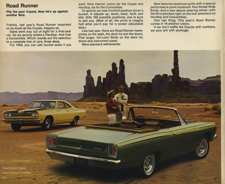Road Runner Auto Sales >> 1969 Road Runner Specs, Colors, Facts, History, and Performance | Classic Car Database