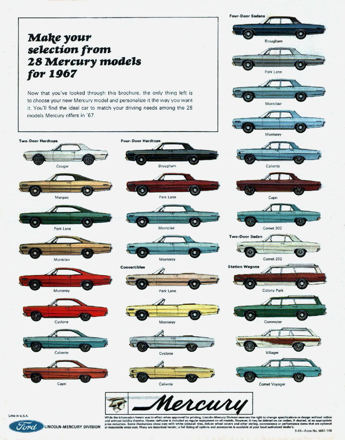 1967 Cougar Specs Colors Facts History And Performance