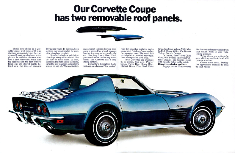 1968 To 1972 Corvettes For Sale >> 1972 Corvette Specs, Colors, Facts, History, and Performance | Classic Car Database