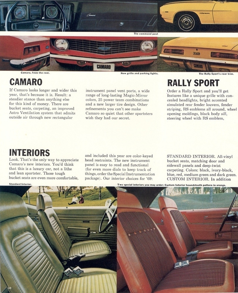 1969 camaro specs colors facts history and performance classic car database. Black Bedroom Furniture Sets. Home Design Ideas