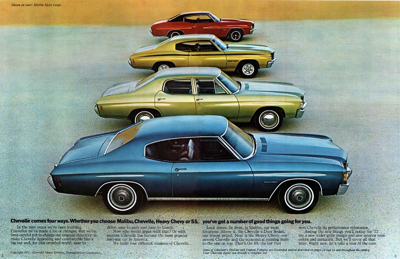 1972 Chevelle Specs Colors Facts History And