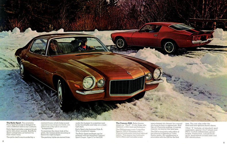 1973 Camaro Specs Colors Facts History And Performance
