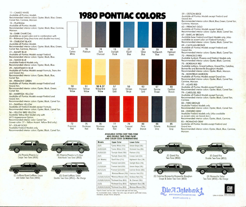 1980 Firebird Specs Colors Facts History And