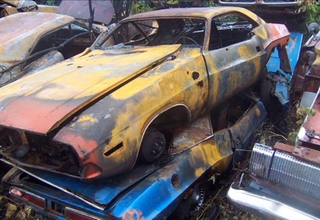 Huge Classic Car Junkyard Wrecked Vintage Muscle Cars Post