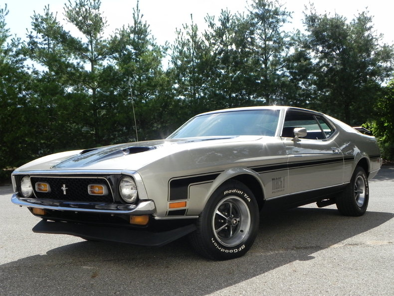 Light Pewter Metallic 1971 Ford Mustang Mach 1 For Sale