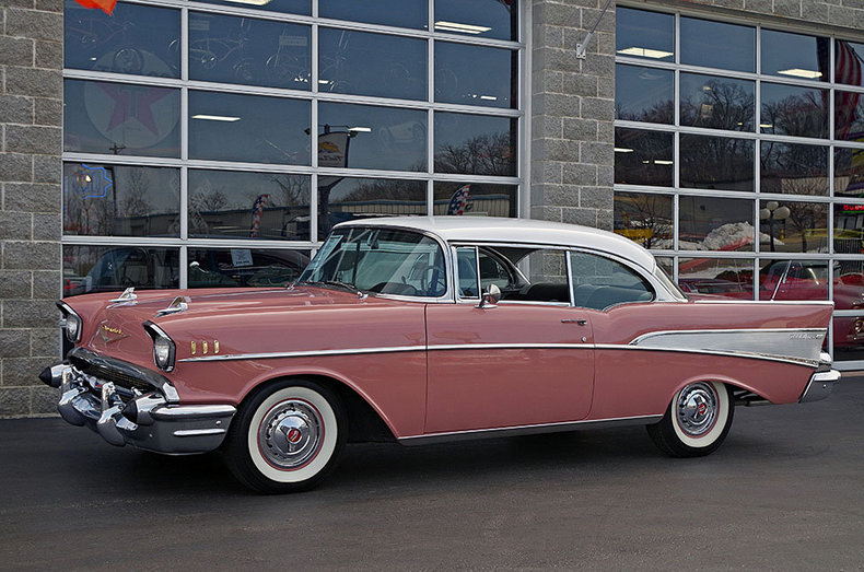 Canyon Coral India Ivory 1957 Chevrolet Bel Air For Sale