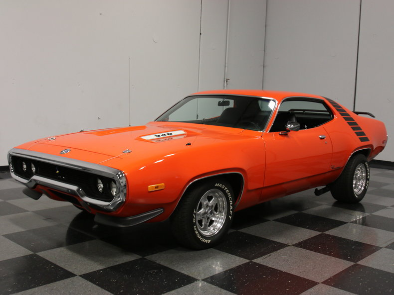 1972 plymouth road runner post mcg social for Garage auto orange