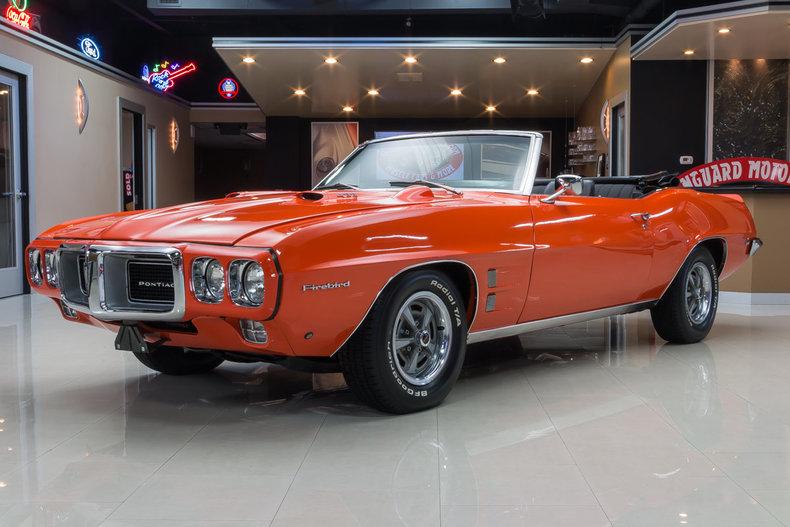 Orange 1969 pontiac firebird for sale mcg marketplace for Garage auto orange