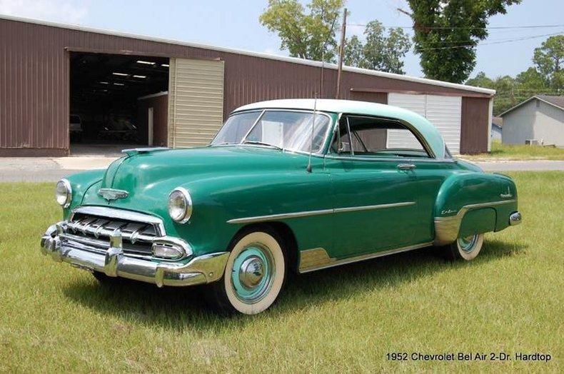 Green 1952 chevrolet bel air for sale mcg marketplace for 1952 chevy belair 4 door