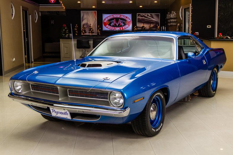 Blue Metallic 1970 Plymouth Barracuda For Sale Mcg