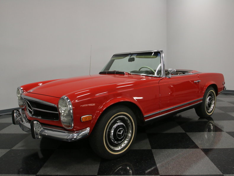Red 1968 Mercedes Benz 250 Sl For Sale Mcg Marketplace
