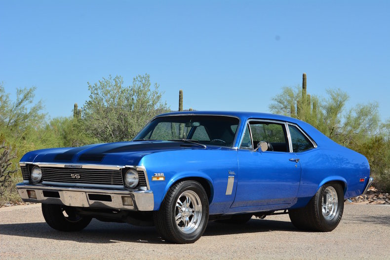 Blue Metallic 1970 Chevrolet Nova Ss For Sale Mcg