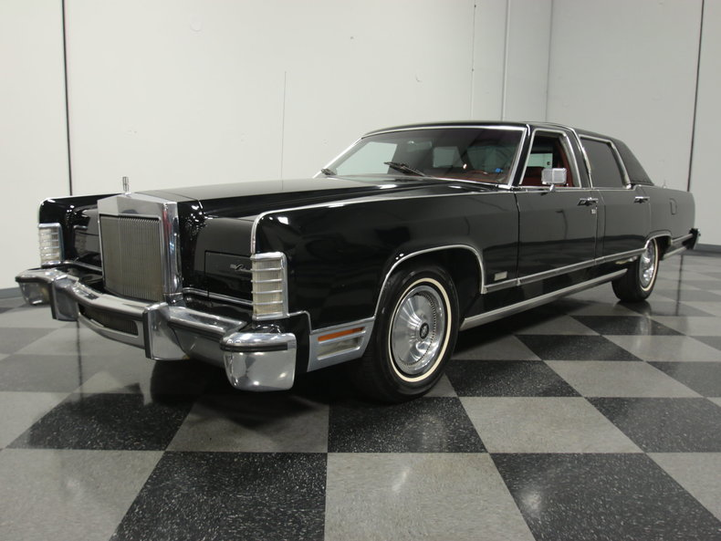 black 1979 lincoln continental for sale mcg marketplace. Black Bedroom Furniture Sets. Home Design Ideas