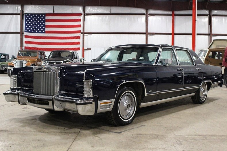 midnight blue 1978 lincoln continental town car for sale mcg marketplace. Black Bedroom Furniture Sets. Home Design Ideas