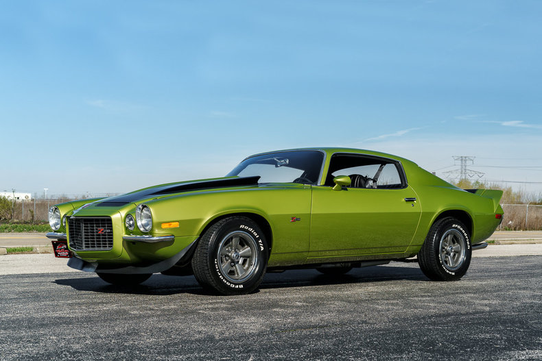 cottonwood green 1971 chevrolet camaro z28 for sale mcg. Black Bedroom Furniture Sets. Home Design Ideas