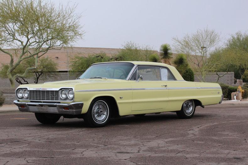 Goldwood Yellow 1964 Chevrolet Impala Ss For Sale Mcg