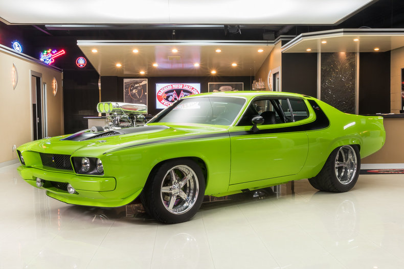 Green Amp Black 1973 Plymouth Road Runner For Sale Mcg