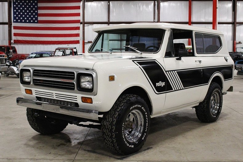 winter white 1980 international scout ii for sale mcg marketplace. Black Bedroom Furniture Sets. Home Design Ideas