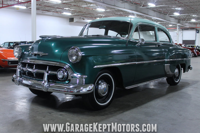 Woodland green 1953 chevrolet 210 for sale mcg marketplace for Woodland motors used cars
