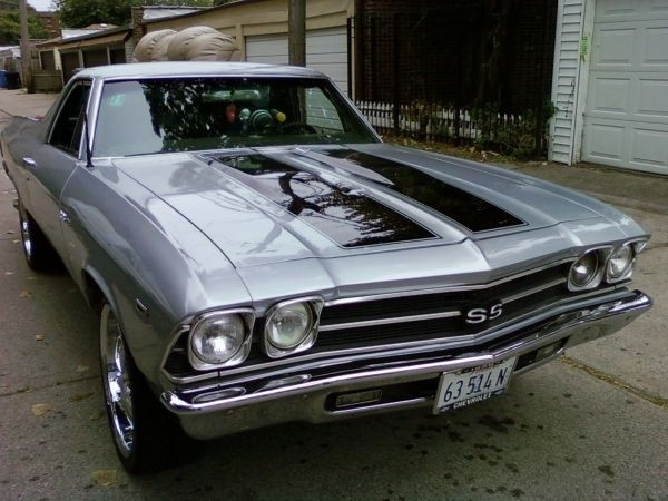silver 1969 chevrolet el camino for sale mcg marketplace. Black Bedroom Furniture Sets. Home Design Ideas