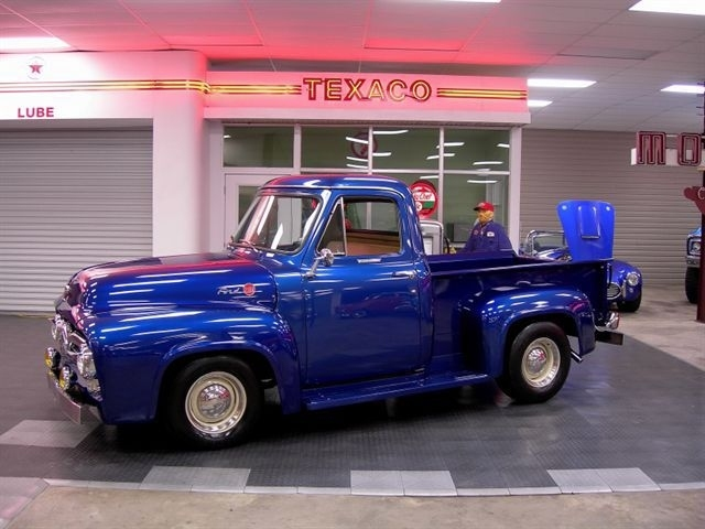 Blue 1955 Ford F100 For Sale | MCG Marketplace