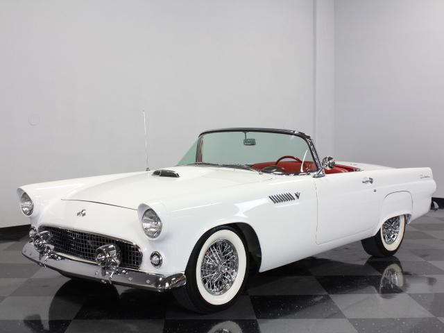 White 1955 Ford Thunderbird For Sale Mcg Marketplace