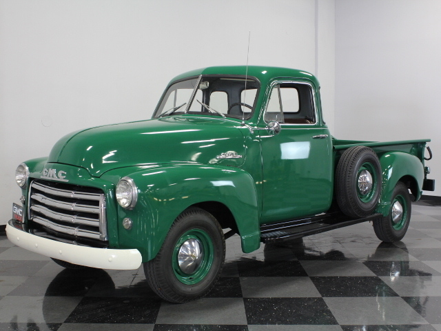 Green 1952 gmc 5 window pickup for sale mcg marketplace for 1952 5 window chevy pickup for sale