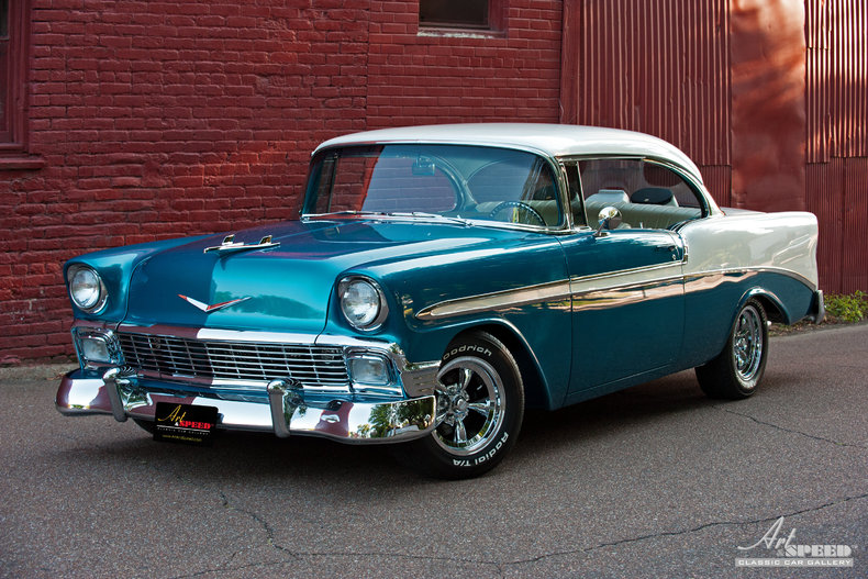 Candy teal 1956 chevrolet bel air for sale mcg marketplace for 1956 chevy belair 4 door hardtop for sale