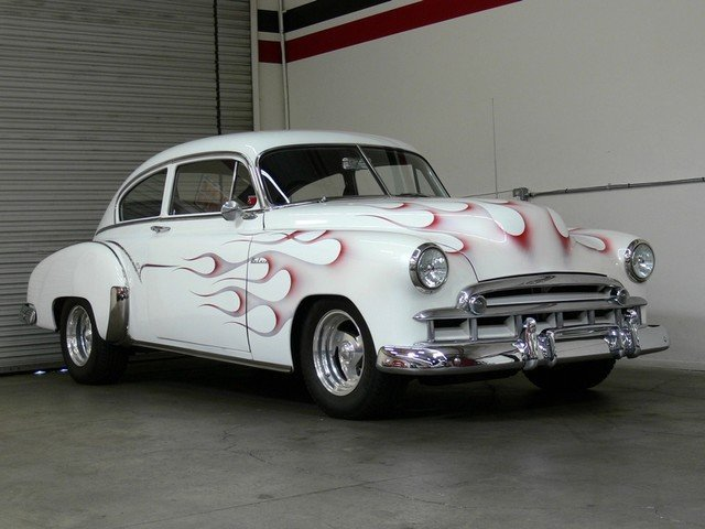 White 1949 chevrolet deluxe for sale mcg marketplace for 1949 chevy 4 door deluxe
