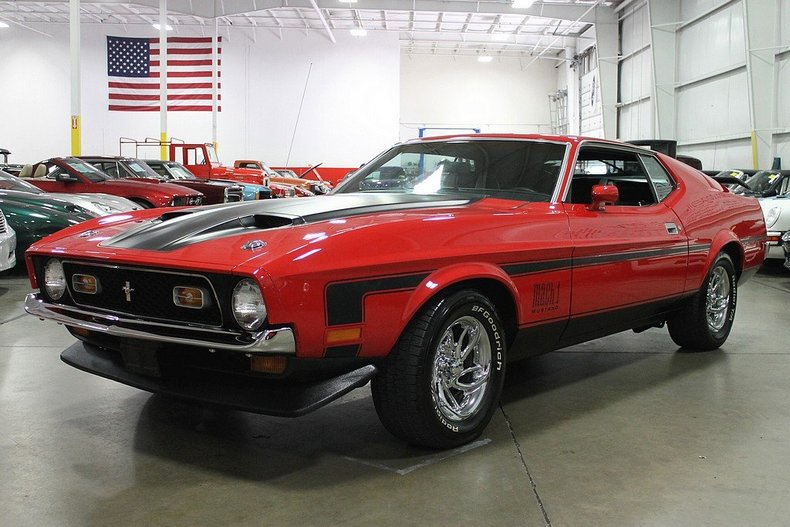 bright red 1972 ford mustang mach 1 for sale mcg marketplace