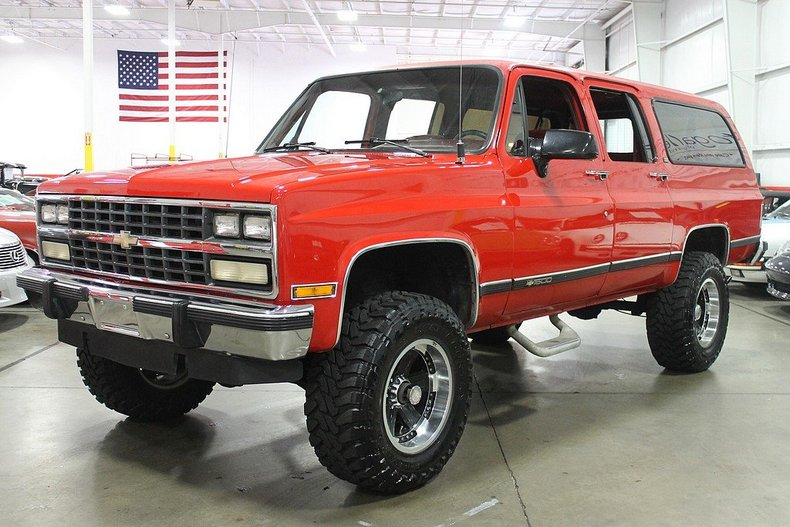 torch red 1991 chevrolet suburban for sale mcg marketplace. Black Bedroom Furniture Sets. Home Design Ideas