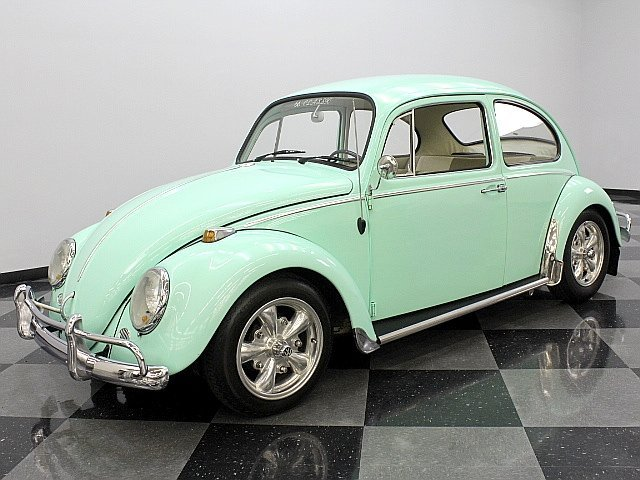 green 1966 volkswagen beetle for sale mcg marketplace. Black Bedroom Furniture Sets. Home Design Ideas