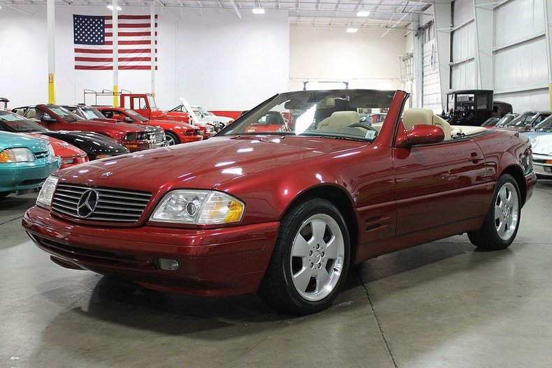 firemist red 1999 mercedes benz sl500 for sale mcg. Black Bedroom Furniture Sets. Home Design Ideas