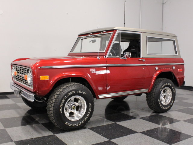 Red 1974 ford bronco for sale mcg marketplace for Garage ford maurecourt 78