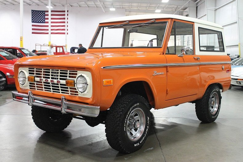 Burnt orange 1974 ford bronco for sale mcg marketplace for Garage ford orange