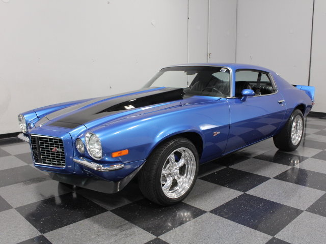Blue 1973 Chevrolet Camaro Rs For Sale Mcg Marketplace