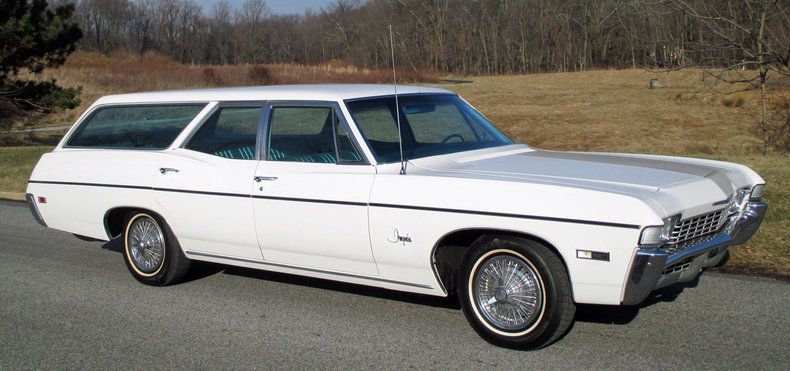 White 1968 Chevrolet Impala Wagon For Sale Mcg Marketplace
