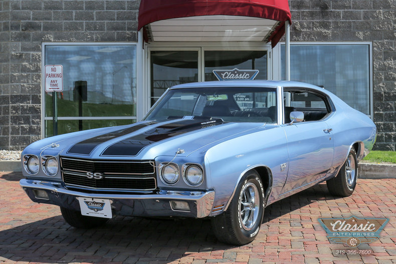 astro blue 1970 chevrolet malibu ss for sale mcg marketplace. Black Bedroom Furniture Sets. Home Design Ideas