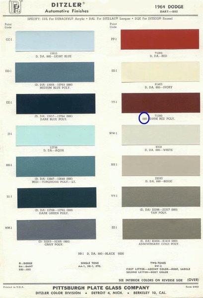 894 64 dodge paint low res. Black Bedroom Furniture Sets. Home Design Ideas