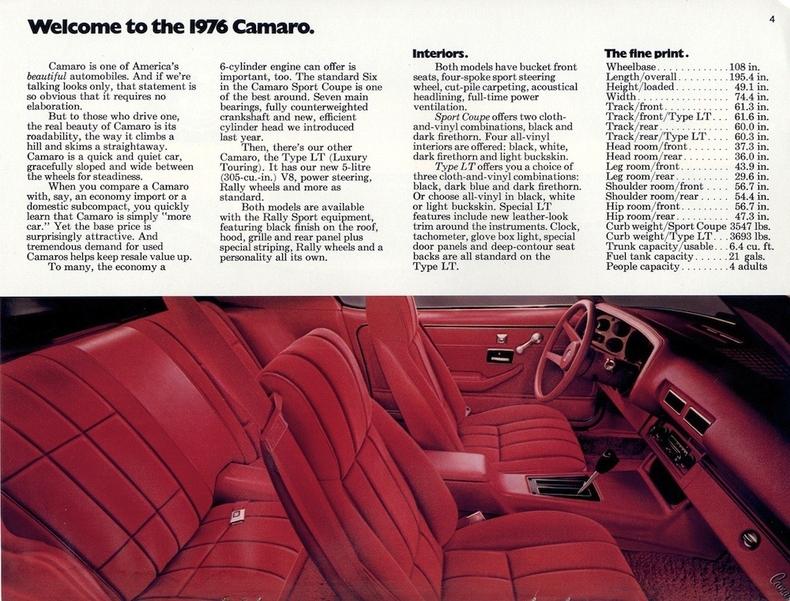 04 Mustang Gt >> 1976 Chevrolet Camaro | My Classic Garage