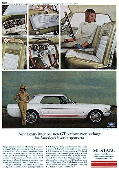 1965 ford mustang ad 65 cars ads fastback gt brochure brochures 1967 mustangs advertisements classic 1964 sales advertising colors most