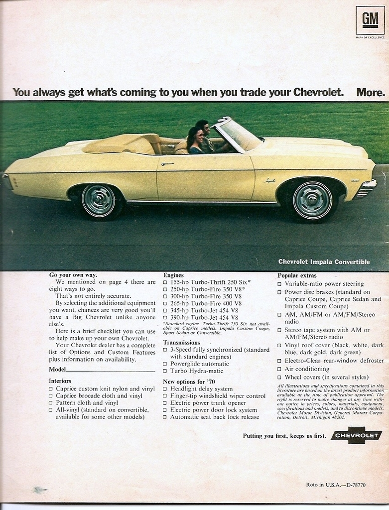 1970 Impala Specs Colors Facts History And Performance