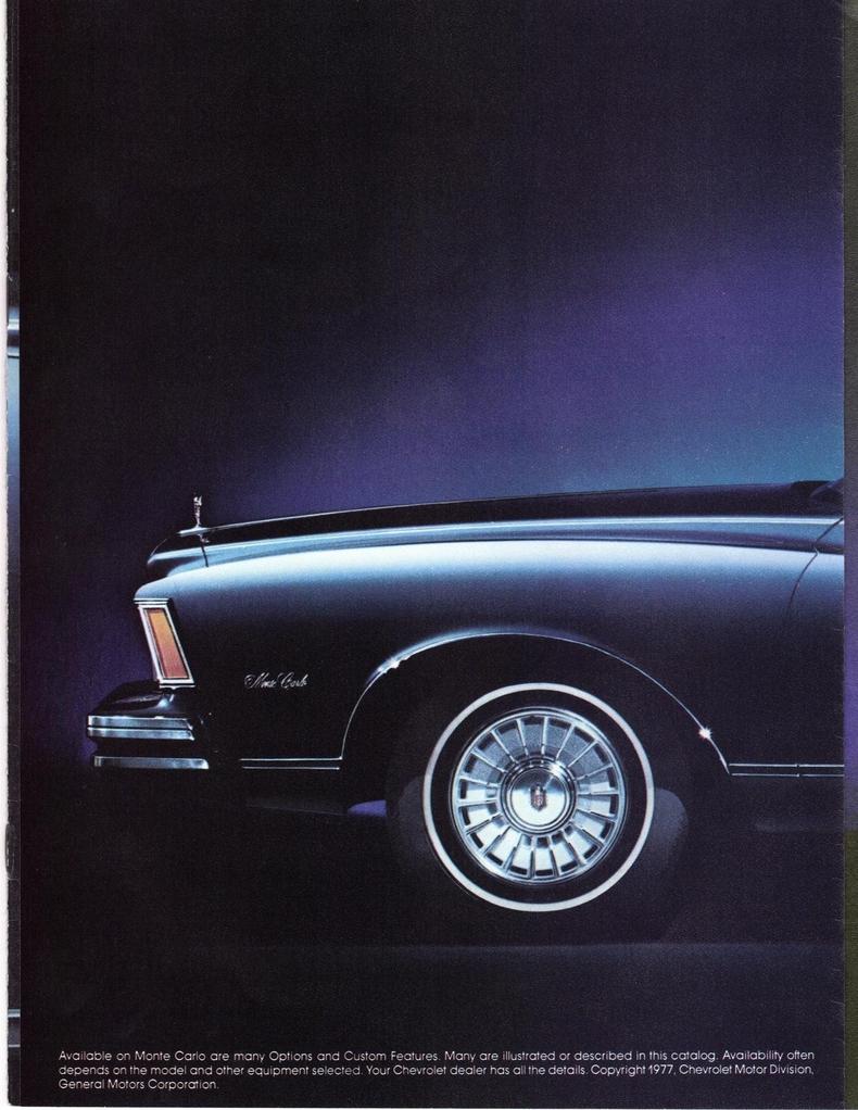 1978 Chevrolet Monte Carlo My Classic Garage Bel Air Oem Brochures 1453