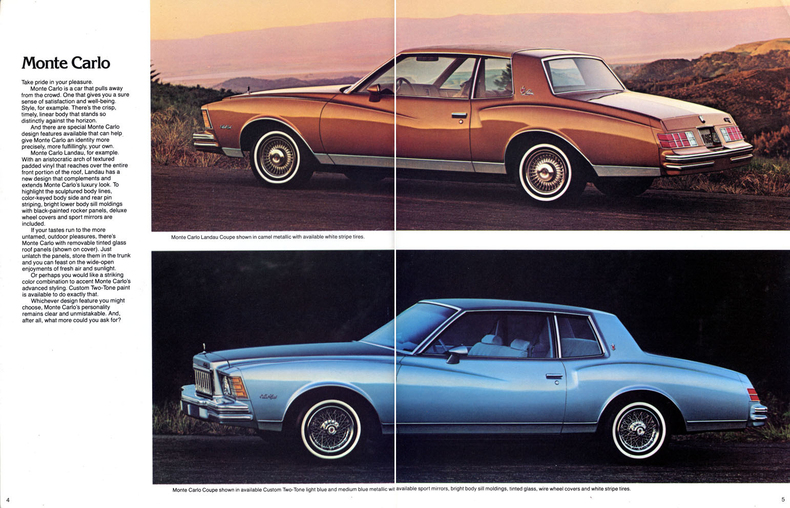 1979 Monte Carlo Specs, Colors, Facts, History, and Performance : Classic Car Database