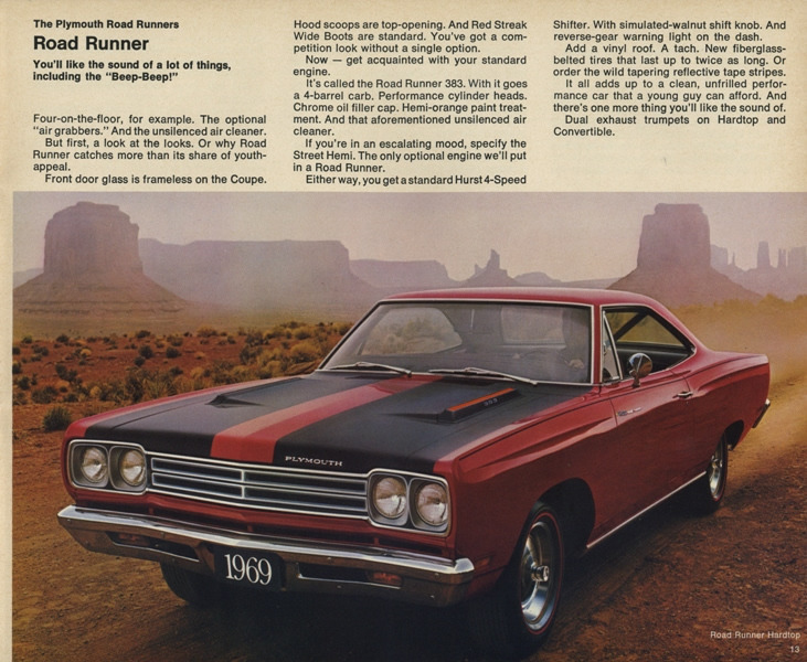 1971 plymouth roadrunner specs