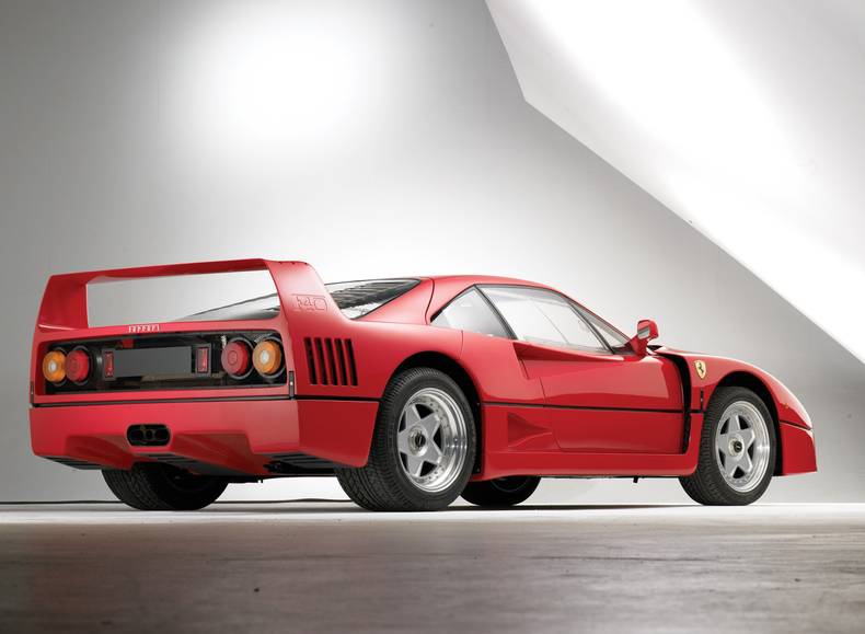 2003 unforgettable 1990 cars ferrari f40 rear low res