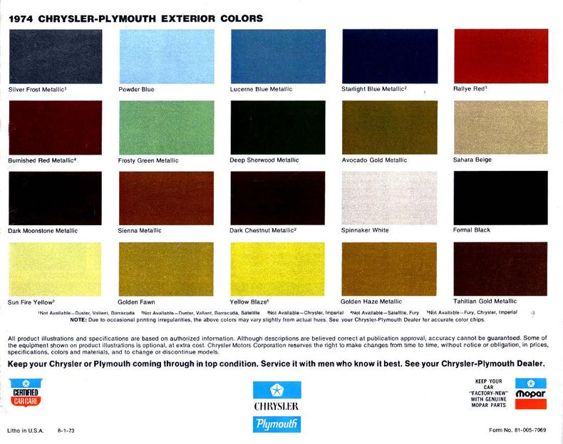 Metallic car paint colour chart 16