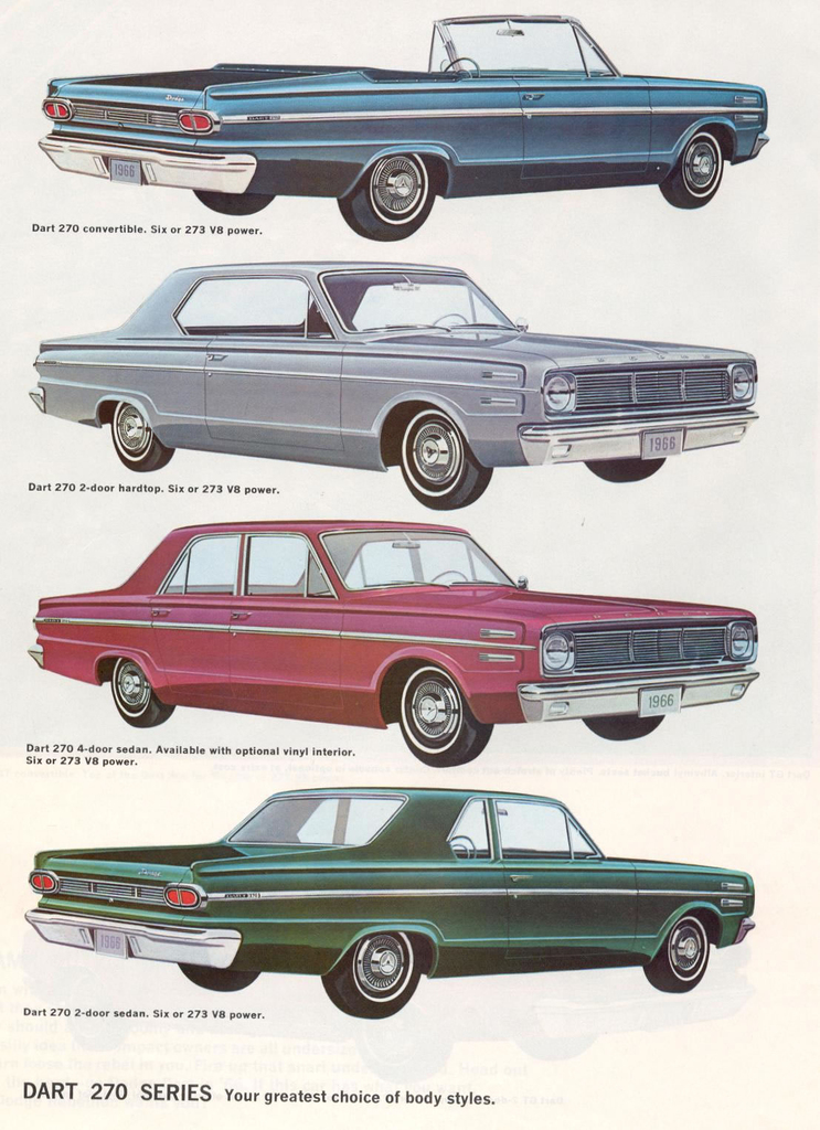 1966 Dart Specs Colors Facts History and Performance  Classic